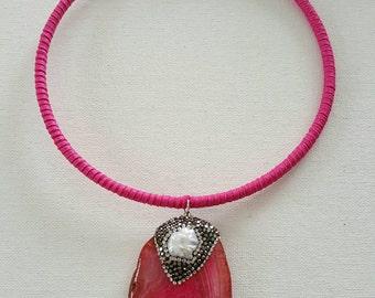 Pink and Pearl Lia Choker