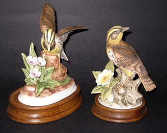 "Vintage Andrea by Sadek Set of ""Meadowlark"" Figurines, #7703 & #9386"