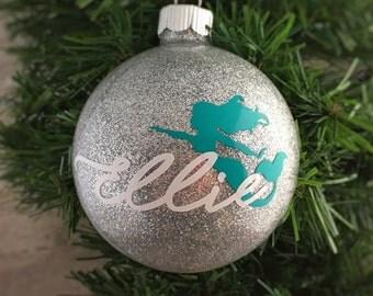 Mermaid Ornament - Handmade Ornament - Custom Mermaid Christmas Ornament - Christmas Tree Decor
