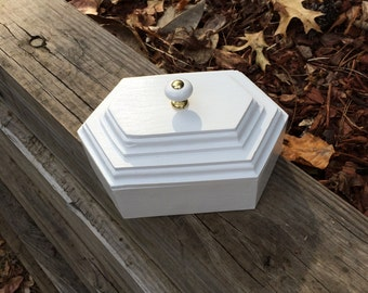 White Hexagon Box