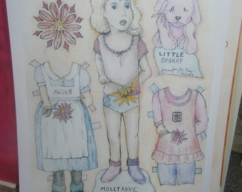 Mollyanne Paper Doll set