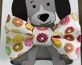 Donut Bow Tie for Cat or Dog, Pet Bowtie, Doughnuts, Pastry, Stocking Stuffer, Gift for Animal Lover, Collar Accessory, Doughnut