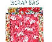 "Liberty Fabric 6"" x 5"" + 4"" x 4"" Scrap Bag minimum sizes Sewing Patchwork Quilting Floral Pink Blue Purple Liberty of London Tana Lawn"