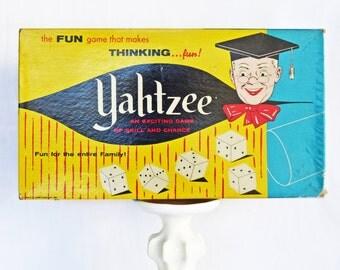 Vintage 1961 Yahtzee Game--Vintage Games--50s-60s Collectibles--Vintage Ephemera--Retro Board Game--Kitsch--Mid Century Collectible--Retro