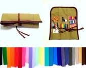 L | 48 Pencil Roll Up | Choose Colors | Colored Pencil Roll Up | Art Tool Roll | Canvas Pen Roll Up | Pencil Case | Pen Wrap