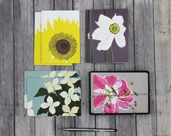Assorted Boxed Floral Note Cards