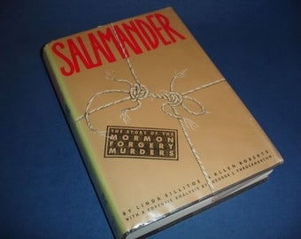 Salamander: The Story of the Mormon Forgery Murders HC/DJ/ Illustrated 1988 VG