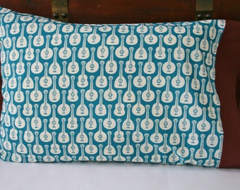 Organic Pillowcase, Organic Standard Pillowcase, Organic Cotton Pillowcase, Pillow Case, Guitars, Guitar Pillowcase