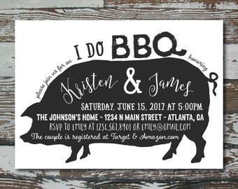Custom I do BBQ Wedding Shower Invitation - Printable