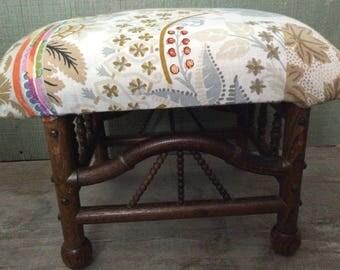 Victorian Bamboo Footstool