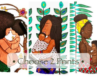 40% OFF • African Mother & Child • Choose Two 9x12 Prints