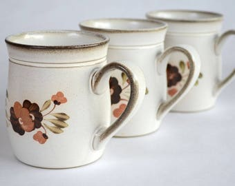 Denby Serenade Coffee or Tea Mugs Set of Three Made in England
