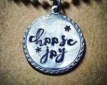 Choose joy necklace; inspirational jewelry