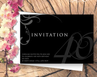 Sophisticated Party Invitation