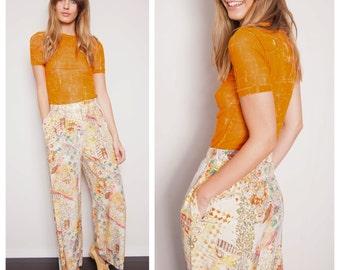 S.A.L.E was 300 now 200 fun vintage 80s/90s EMANUEL UNGARO silk printed pants trousers