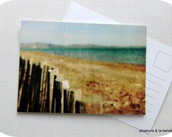 "Simple postcard ""Beach"" (nature, sea, beach) taken from my photos"