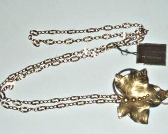 """Vintage Gold Filled  Pendant Necklace 1/20TH 12 kt. Length 24"""""""