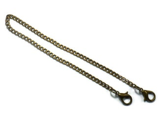 2x 35cm (13,78 in) chain antique brass