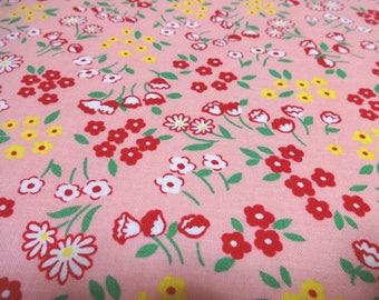 Japanese Fabric LECIEN Antique Flower Garden Pink Fat Quarter