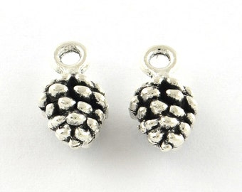 Pine Cone Charms Antiqued Silver Pine Cone Charms Silver Pine Cones Pinecone Charms Pine Cone Pendants Wholesale Charms