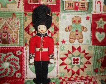 Vintage Toy Soldier Felt Christmas Ornament