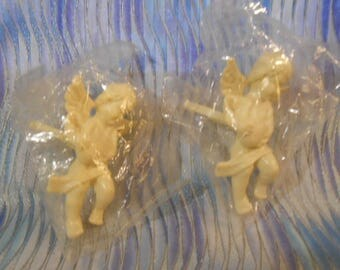 Two Plastic Cherub Candle Rings-Shipping Included