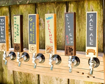 Chalkboard tap handle Beer tap handle