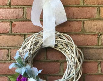 Spring Wreath, Front Door Wreath, Summer Wreath, Cottage Wreath