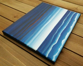 8x10 Fourth of July Beach Day Canvas Painting