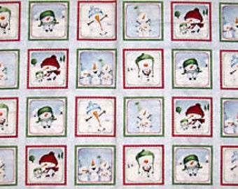 Quilting Treasures Snow Much Fun Snowmen yardage