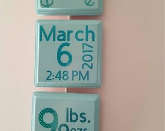 Baby Announcement wall hanger