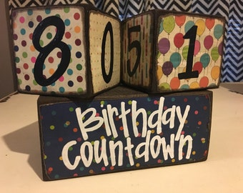 Birthday Countdown Blocks