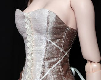 White & Beige corset - for Dollfie Dream (DDC020)