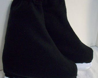 Melvage's Ice Skate Boot Warmers Hockey Slip-overs Covers (BLACK ONYX) Hockey Size 8-10