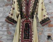 Gypsy vintage dress, tribal tunic, Indian dress, Mexican, kaftan, costume, Balochi dress, Afghani dress, vintage dress [No.3]