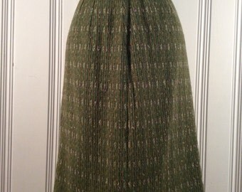 1950's Green Tweed Skirt