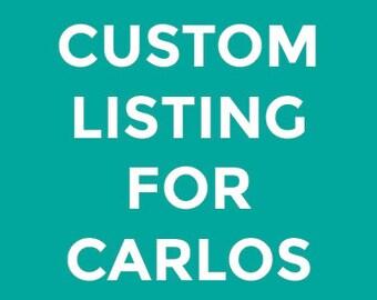 Custom Illustration for Carlos