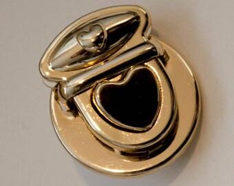 Lock folder lock heart 30 x 32 mm gold
