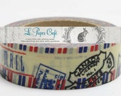 Airmail Washi Tape with Postmark Stamps Red & Blue - Paper/Scrapbook Washi Tape - Decorative/Crafting Tape - Packaging Supplies - 15mmx10m