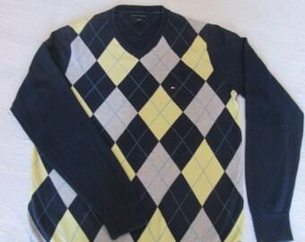 Vintage mens Tommy Hilfiger sweater / VGT Tommy Hilfiger sweater for men