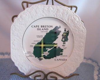 Vintage decorative plate Cape Breton / Vintage Decorative plate Caps Breton