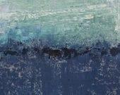 "Original Abstract Oil Painting,  ""On The Water"" , 12""x9"", Original Art by  artist John Kelley"