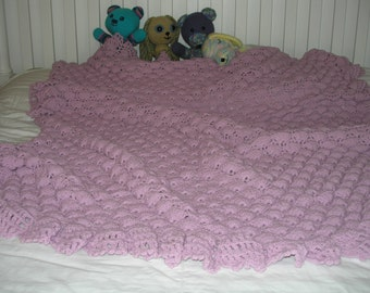 Gracious Fans Crocheted Afghan