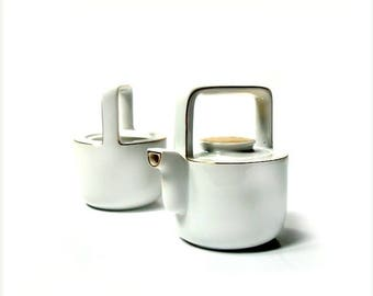 SALE Vintage porcelain tea set ,tea pot with sugar bowl ,60s , Bavaria