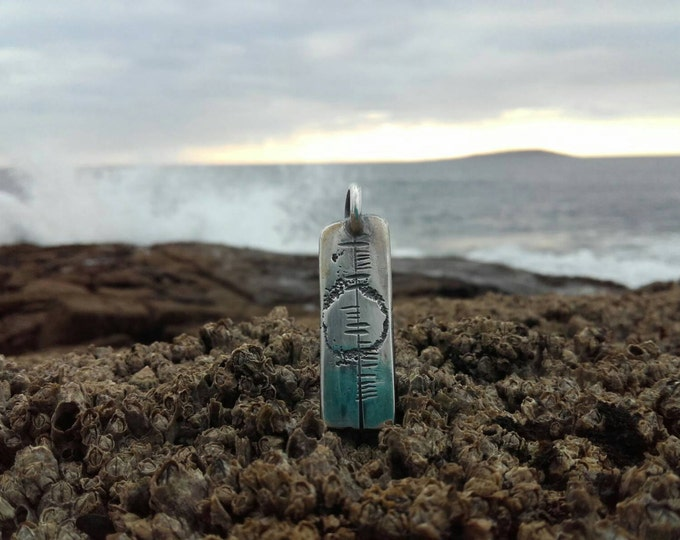 Silver Soul Wave Surfer Pendant by Ruairí O'Neill