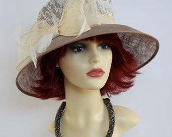 Vintage formal hat, races hat, wedding hat, Ascot hat, church hat