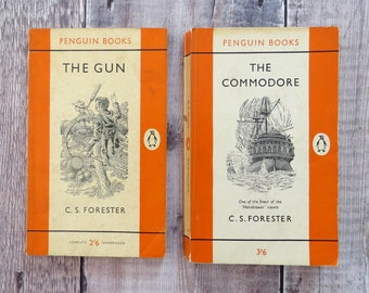 Set of Two C.S Forester Penguin Classic Books - Penguin Books - Literature Gift for Book Lover