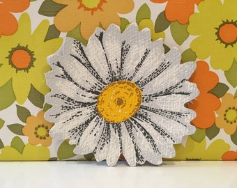 Vintage Kitsch Daisy Coasters Floral Mats