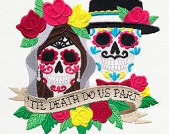 Til Death Do Us Part Embroidered Towel | Flour Sack Towel | | Dish Towel | Kitchen Towel | Hand Towel | Embroidery | Bridal Gift