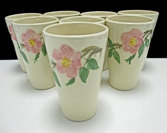 Franciscan China Desert Rose (USA) Vintage Gladding McBean  - Large 10 oz. Tumblers - Set of 4